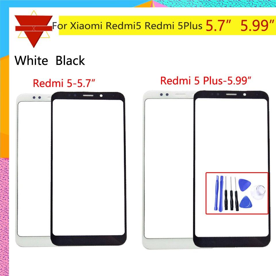 Originale Redmi5 Pannello Frontale Per Xiaomi Redmi 5 Più Il Sensore Touch Screen Display LCD Digitizer Vetro di Copertura Redmi 5 Più di vetro