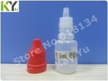Wholesale 2500pcs/LOT 8ml PE  tamper evident caps drop bottle  E-cigarette bottle