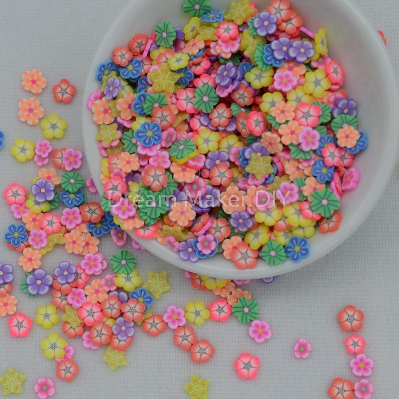 10g/lote, rociadores de arcilla en caliente de polímero para flores, animales, frutas, mariposa, lazo, caramelos, para hacer manualidades, DIY