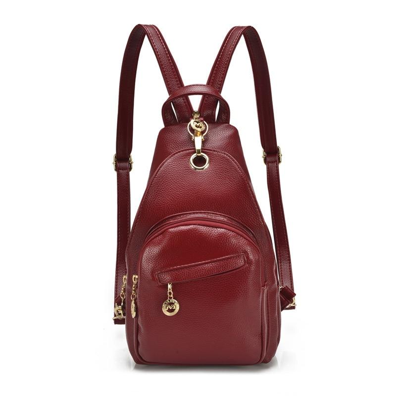 Женские рюкзаки из натуральной кожи, школьные ранцы для девочек-подростков, дорожные сумки
