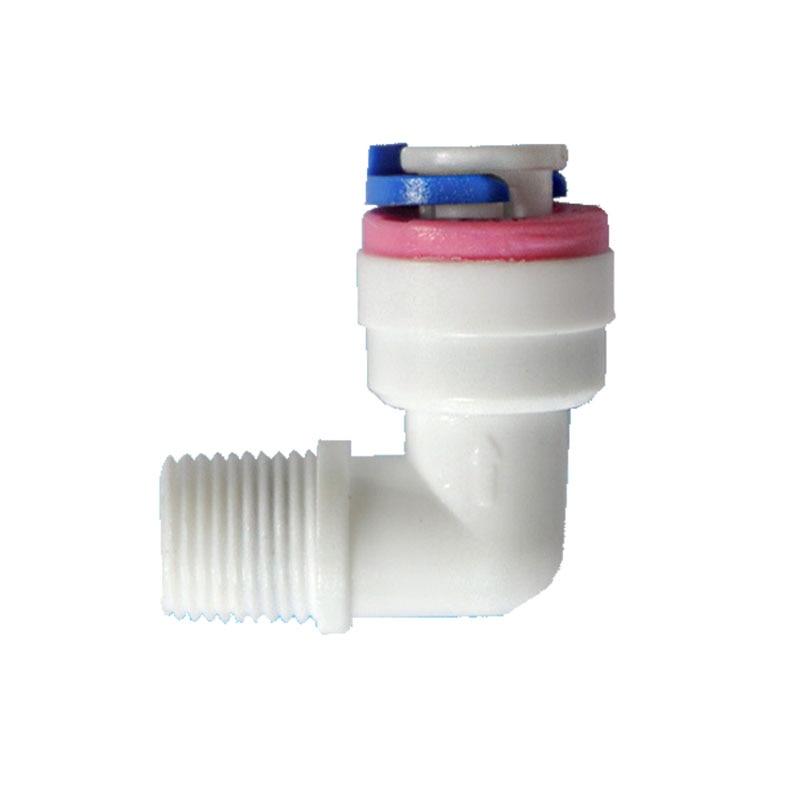 """Válvula de retención unidireccional de 1/8 """"macho a 1/4"""", válvula de reflujo, válvula de no retorno para prevenir el reflujo de fluido tipo L"""