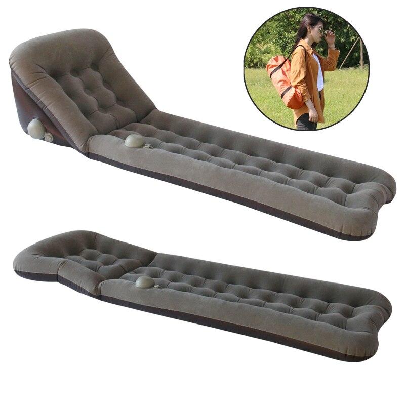 Tumbona de Sol de PVC, colchón inflable autoinflable para acampar al aire libre, colchón de aire para dormir, cama, sofá de playa, silla de Picnic