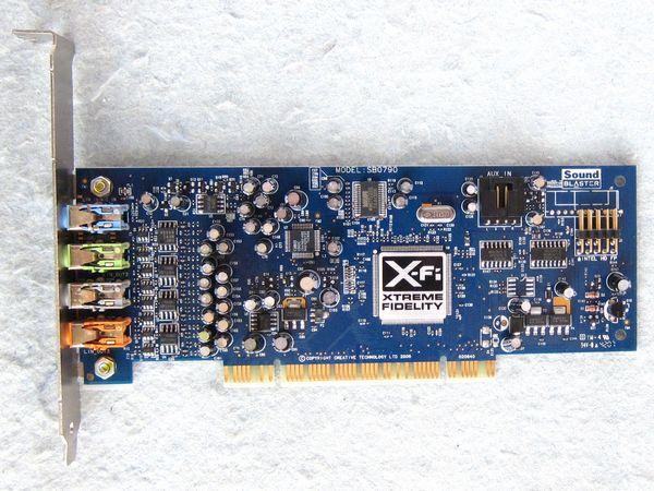 Оригинальная разборка, для Creative Labs SB0790 PCI Sound Blaster X-Fi Xtreme Audio Sound Card, 100% работает хорошо