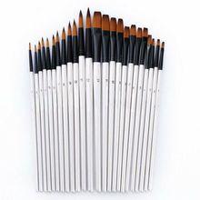 12 шт./компл. наконечник/плоская кисть для рисования художника набор акриловая масляная акварельная картина товары для творчества набор моделей