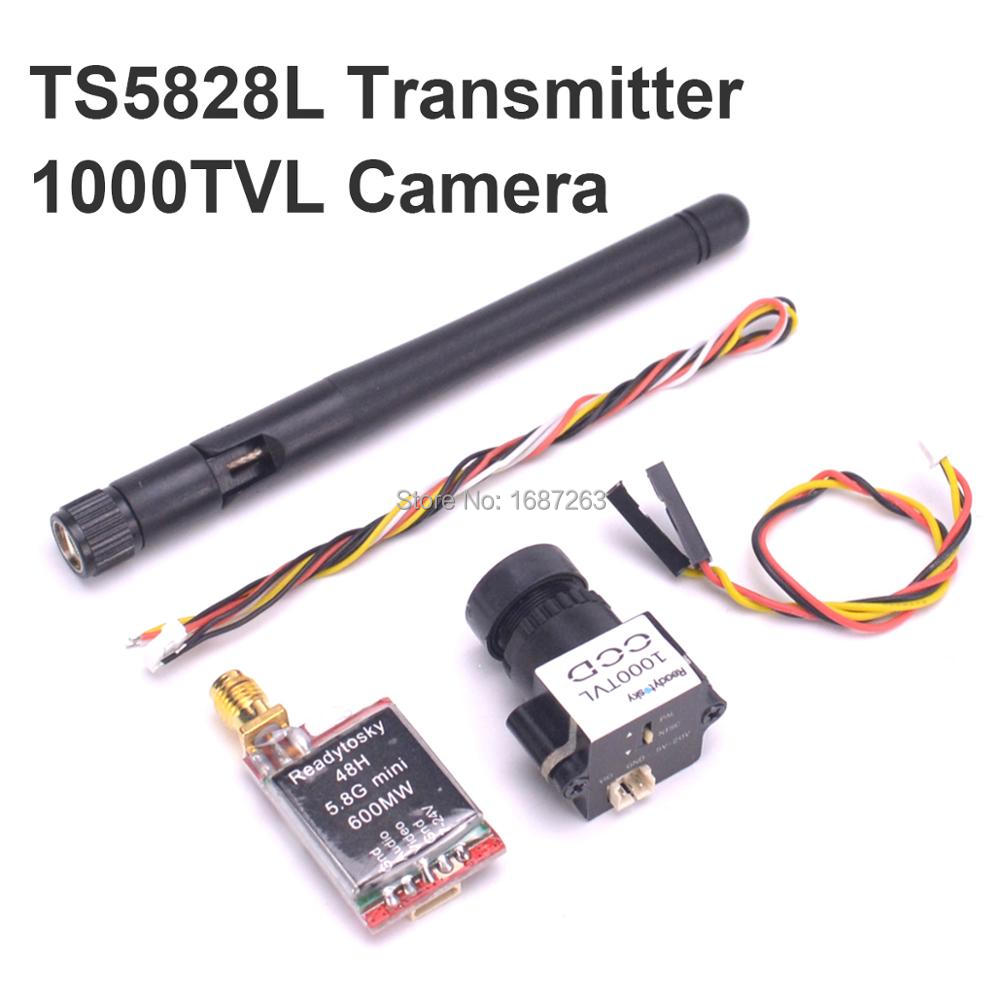 FPV 48CH 5,8G 600mw TS5828S / TS5828L transmisor/Mini 1000TVL CCD 1/3 110 grados 2,8mm lente Cámara NTSC PAL conmutable para RC