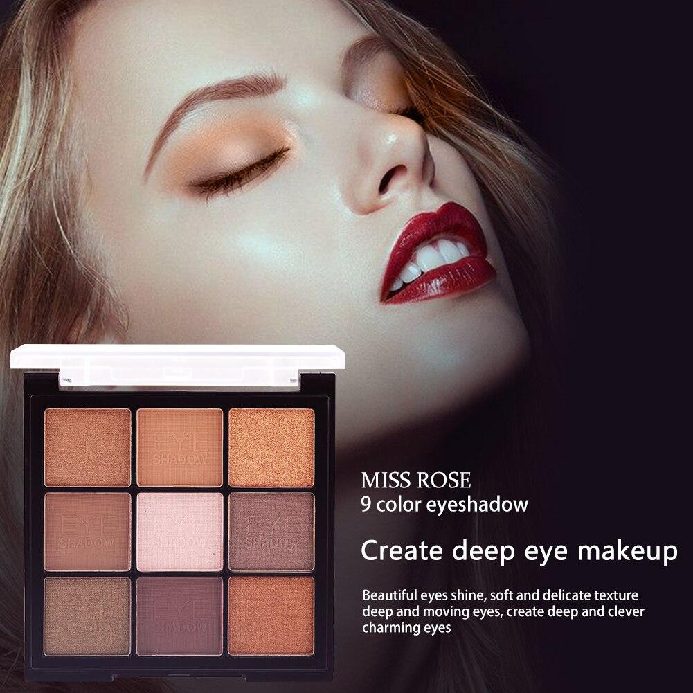 Paleta de sombra de ojos de 1 PC 9 colores de la tierra paleta de brillo mate nacarado brillo Natural maquillaje artista sombra de ojos TSLM2