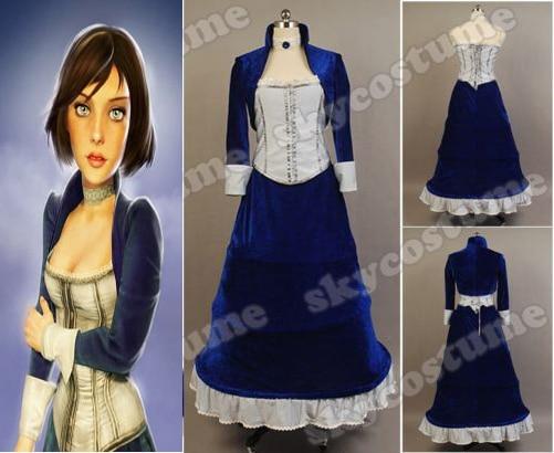 Bioshock Infinite Elizabeth Cosplay disfraces fiesta Halloween carnaval uniformes para mujeres adultas otoño invierno Niña conjunto completo