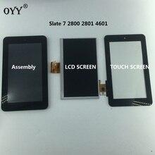 Assembly CLAA070 NQ01 LCD écran tactile numériseur assemblée pièces de rechange pour HP ardoise 7 2800 2801 4601
