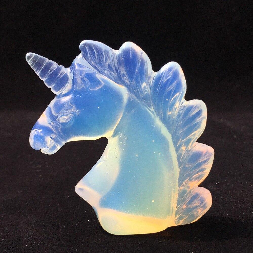 2,0 Natural hermosa ópalo cristal cuarzo Animal colección escultura