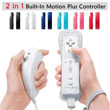 Für Nintendo Wii 2 in 1 Wireless Remote Controller Gebaut-in Motion Plus Nunchuk für Gamepad Joystick Video Spiel zubehör