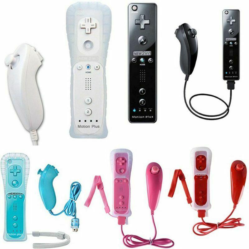 Fit Für Nintendo Wii Wireless Remote Gamepad Controller Integrierte Motion Plus Nunchuk Joystick Game Pad Spiel Zubehör