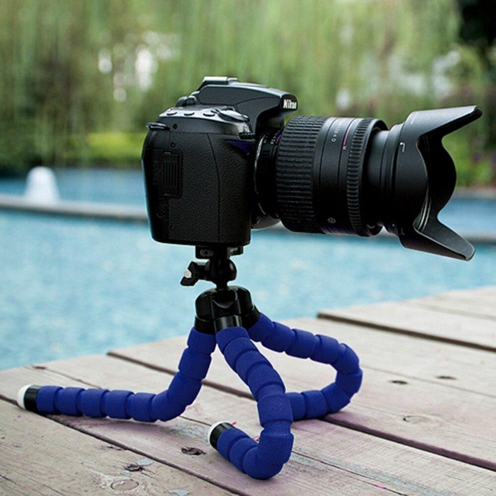 Universal Mini Octopus Flexible pequeño trípode ligero portátil soporte de esponja para teléfonos móviles cámaras