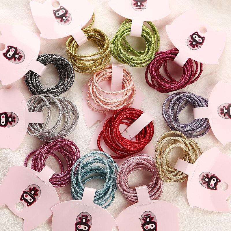 Детские резинки для волос, 50 шт./лот, 3 см, аксессуары для волос, модные резинки для волос карамельных цветов, для девочек и детей, оптовая прод...
