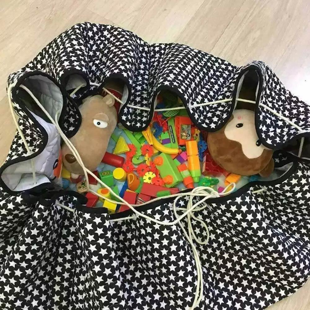 Svetanya coches Fox impreso alfombra juguetes bolsa de almacenamiento de 1,46 m diámetro bebé gateando piso ronda Mat