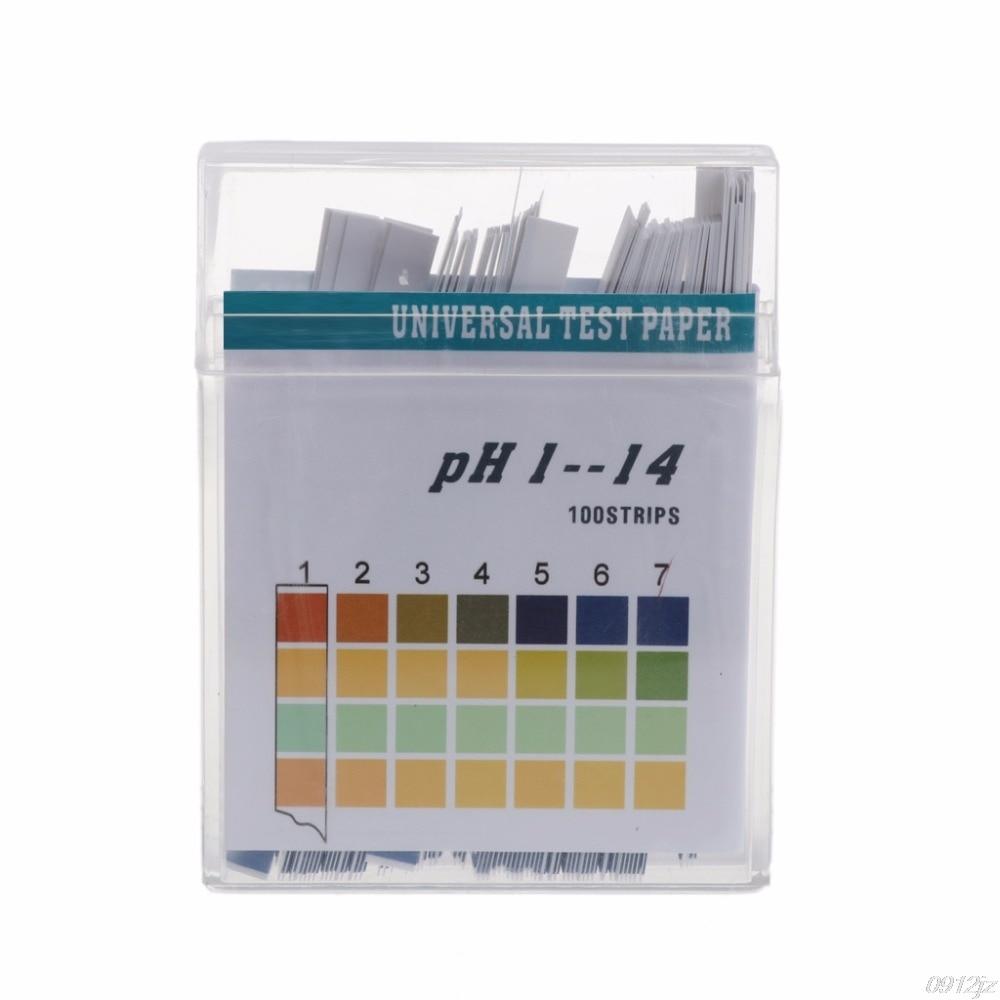 100 tiras medidor de PH papel indicador de valor de PH 1-14 prueba definitiva de papel de orina de atención de la salud de agua de papel Soilsting Kit