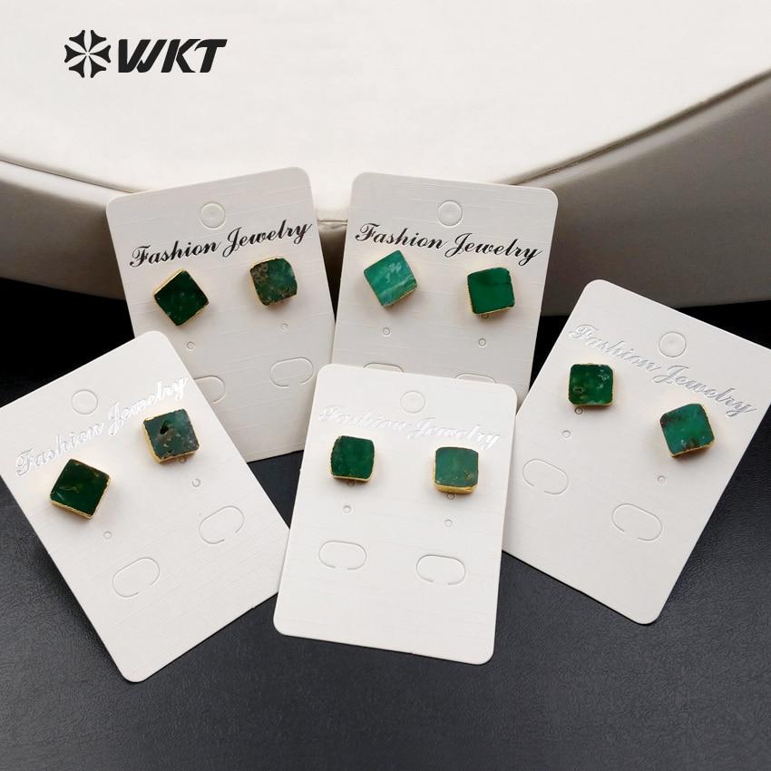 WT-E371 الجملة مربع الأحجار الكريمة ترصيع مع الذهب مكعب بولدر ترصيع يو حجر ترصيع أستراليا شريسوبراسي ترصيع مع الذهب تصفيح