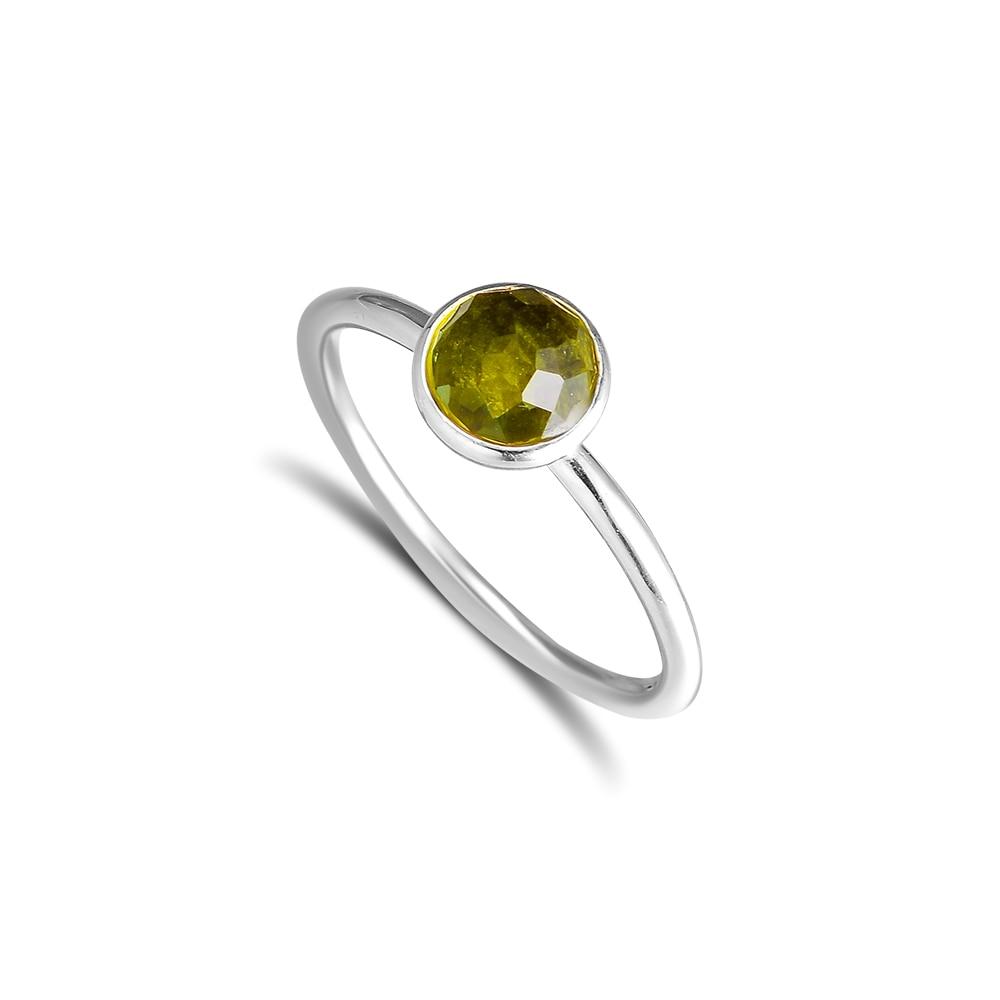 CKK 925 стерлингового серебра August Droplet, перидот кольца для женщин оригинальная мода Европейский стиль DIY ювелирные изделия