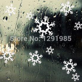 Adhesivos navideños para ventana, pegatinas de cristal, copos de nieve, adorno para interiores, decoración, artesanías de Navidad, moda de hogar, papel tapiz de vinilo