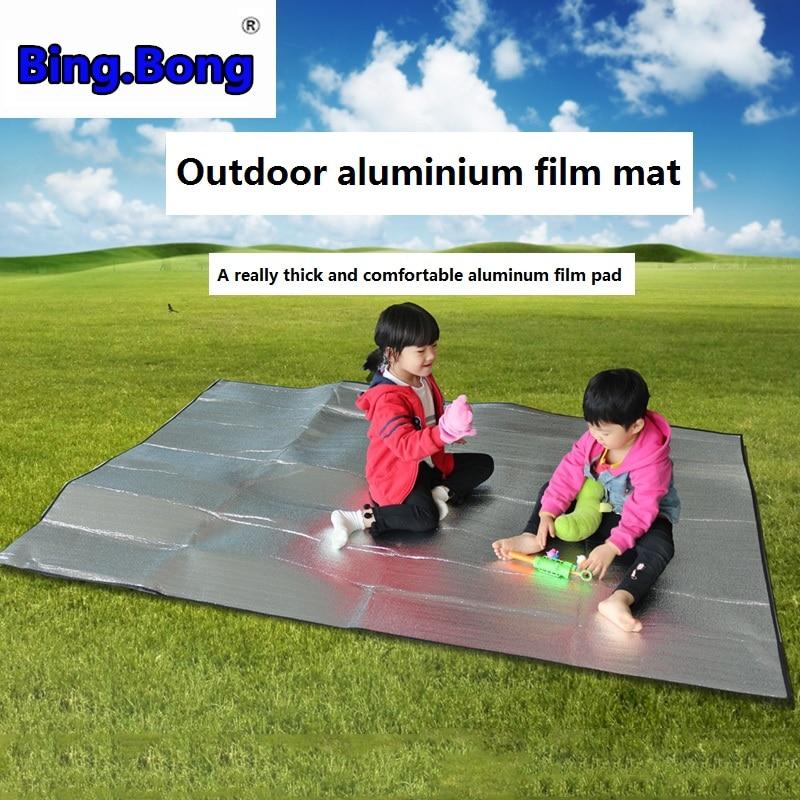 Mat piquenique almofada praia tenda tapete do assoalho de alumínio à prova d água filme moistureproof grama espessamento cobertor mat Piquenique pano