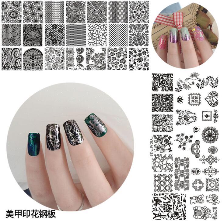 2018 New Arrival 6.5*12.5cm Stamping Nailart Image Plates DIY Template Nail Art Polish Stamping Plates 3D Pattern Stencils