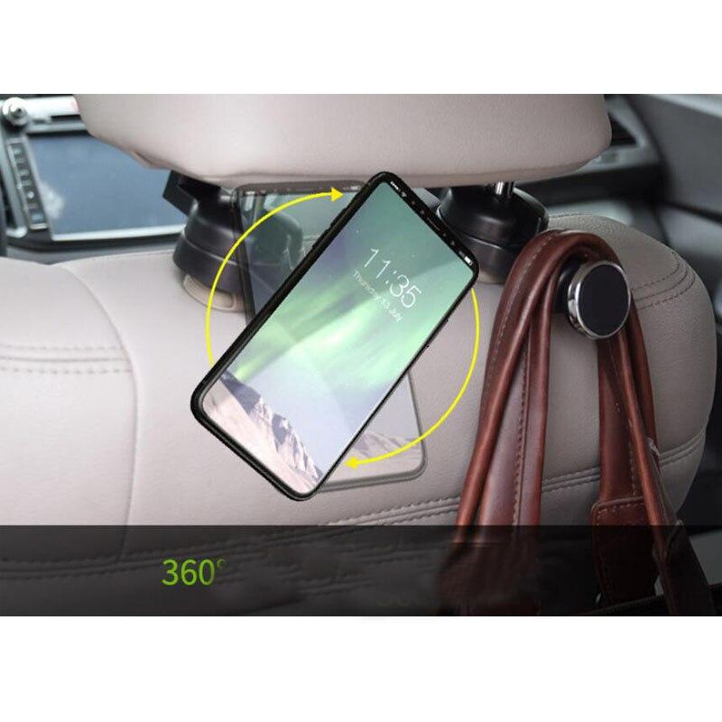 CDCOTN Car Seat Hook Phone Holder Folding Mini Multi-Function Bracket Car Rear Seat Universal Version Car Accessories Decoration