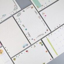 Neue 40 blatt/pack A5 A6 Farbige Spirale Notebook Refills 6 löcher Diario Binder Papier für Filofax Planer Inneren seiten