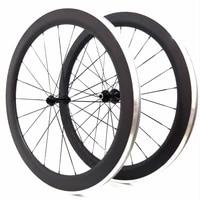 carbon wheelset aluminium 700c bike wheels clincher 60mm light weight performance alu wheel v brake suface hot sell to singapore