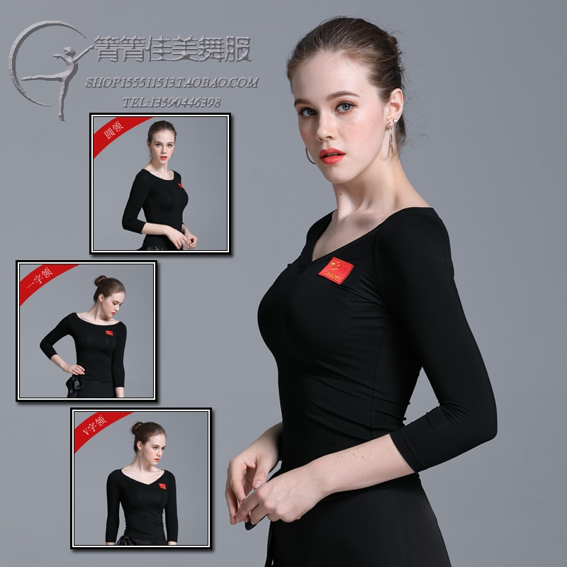 Lady Moden Dance Dress Adult Latin Dance Clothing Long Sleeve Female Dancing Practice Suit Comfortable Slim Women's Wear B-6290