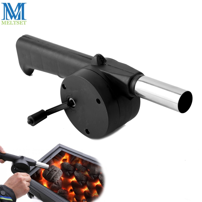 Outdoor Barbecue Fan Hand-cranked Air Blower Portable BBQ Grill Fire Bellows Tools Picnic Camping Ac