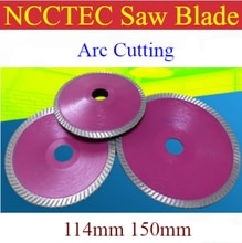 4.5 6 NCCTEC Diamant ARC turbo zaagblad   114mm 150mm wastafel kast aquarium graniet marmer Curve slijpschijven plaat