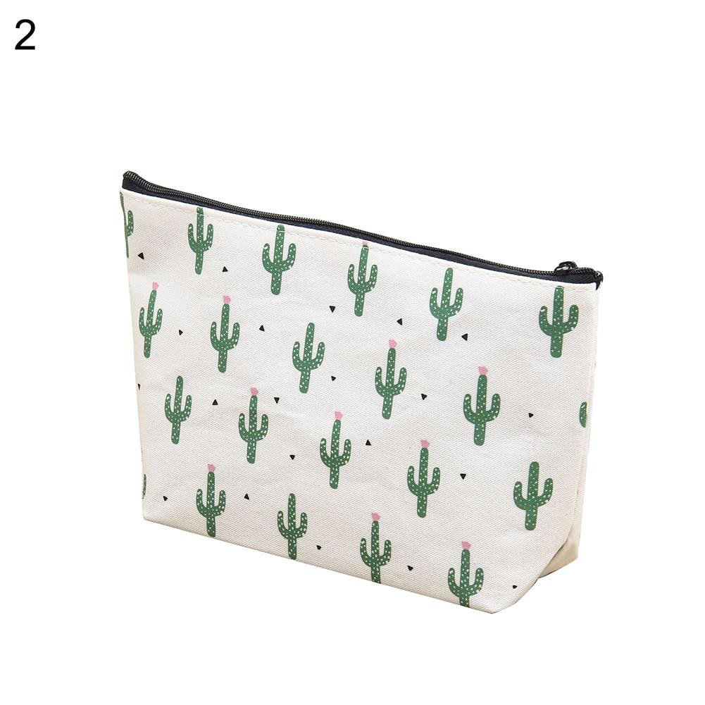 2019 multifuncional diseño de Cactus bolsa de cosméticos de viaje para mujer bolsa de aseo tasje organizador bolsa de almacenamiento reise kosmetik tasche