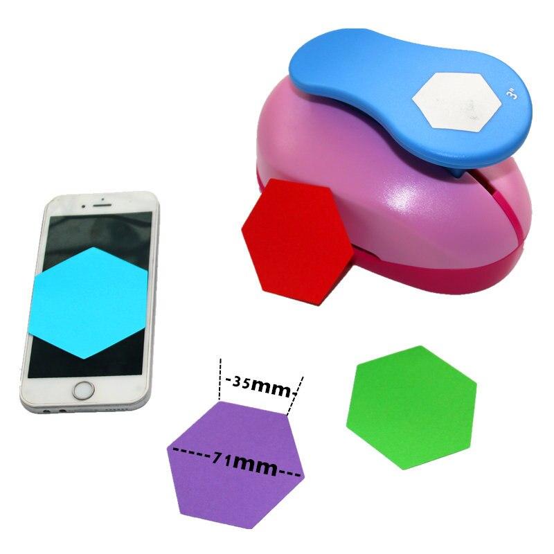 Perforadores de papel hexagonales súper grandes de 3 pulgadas para arte de colección de recortes perfurador diy perforador de papel círculo cutter3880