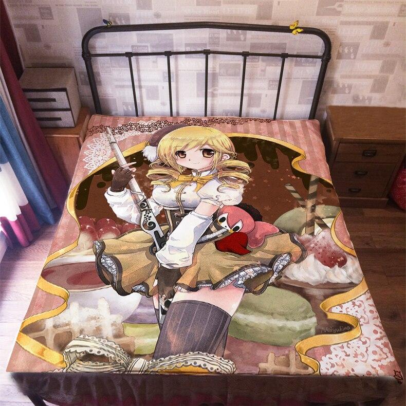 ملاءة سرير برسومات كرتونية ، 150 × 200 سنتيمتر ، بويلا ماجي ، مادوكا ماجيكا ، 006