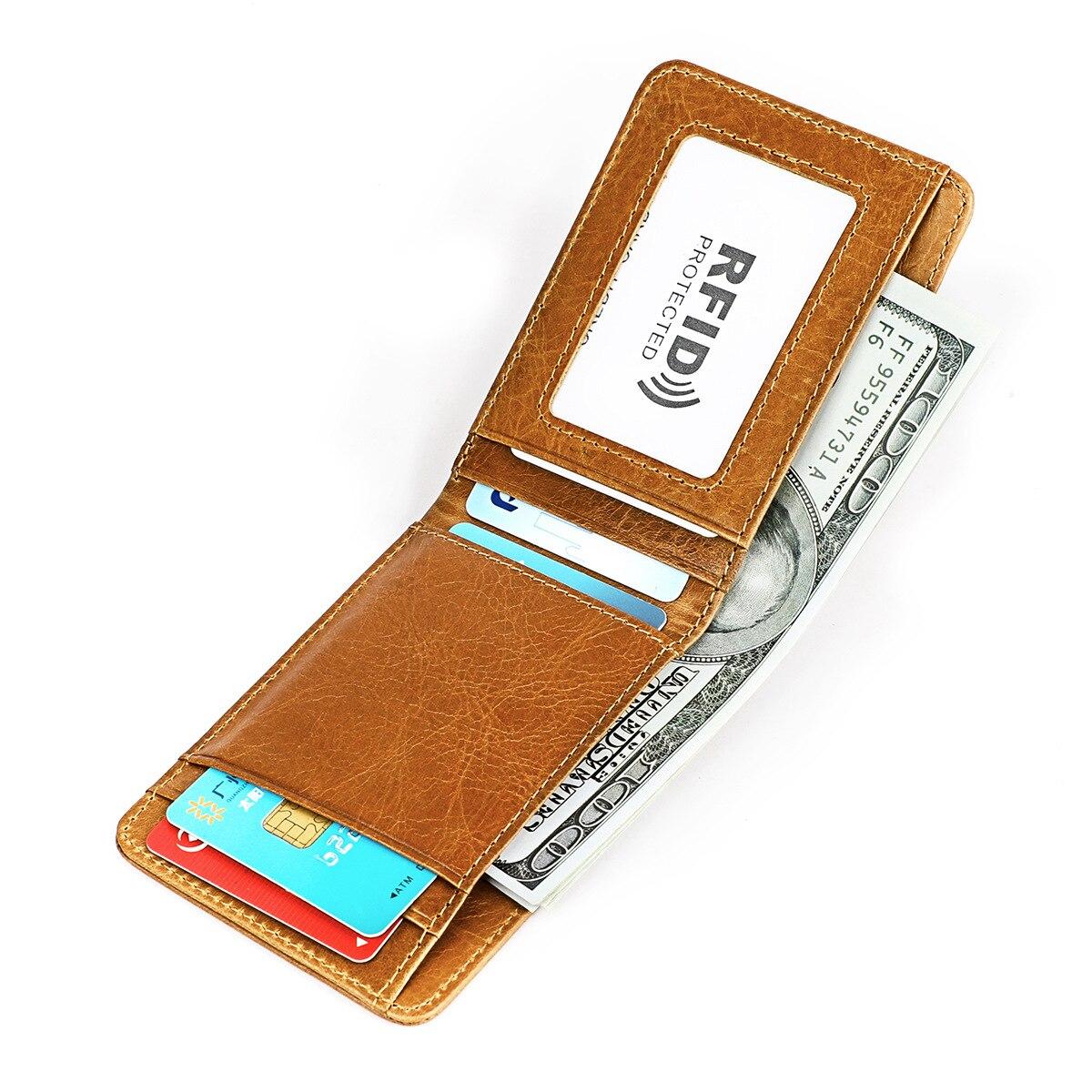 Baellerry мини кошелек для мужчин из натуральной кожи тонкий двойной кошелек передний карман тонкий кошелек для денег короткий маленький кошел...