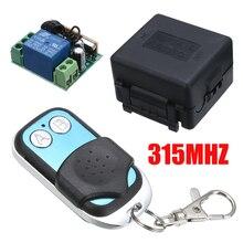 Pohiks 315MHZ sans fil à distance 2 canaux DC 12V télécommande Radio relais commutateur émetteur-récepteur récepteur avec émetteur