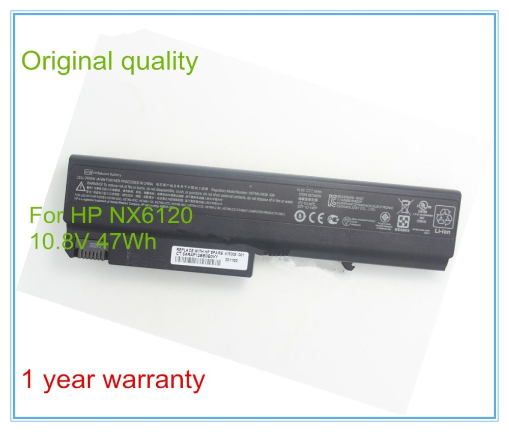 Ursprüngliche Neue Notebook-akkus für 6510B 6515B 6910 P NC6400 NX6120 NX6325 Batterien DT06 415306-001 HSTNN-DB28