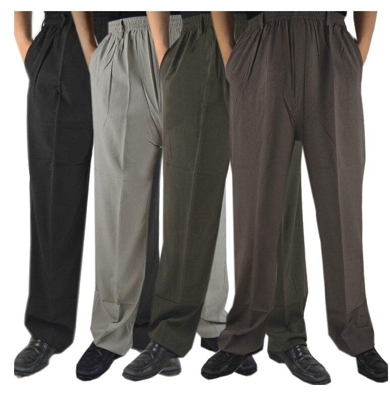 Летние брюки quinquagenarian, мужские свободные брюки, мужские повседневные брюки больших размеров