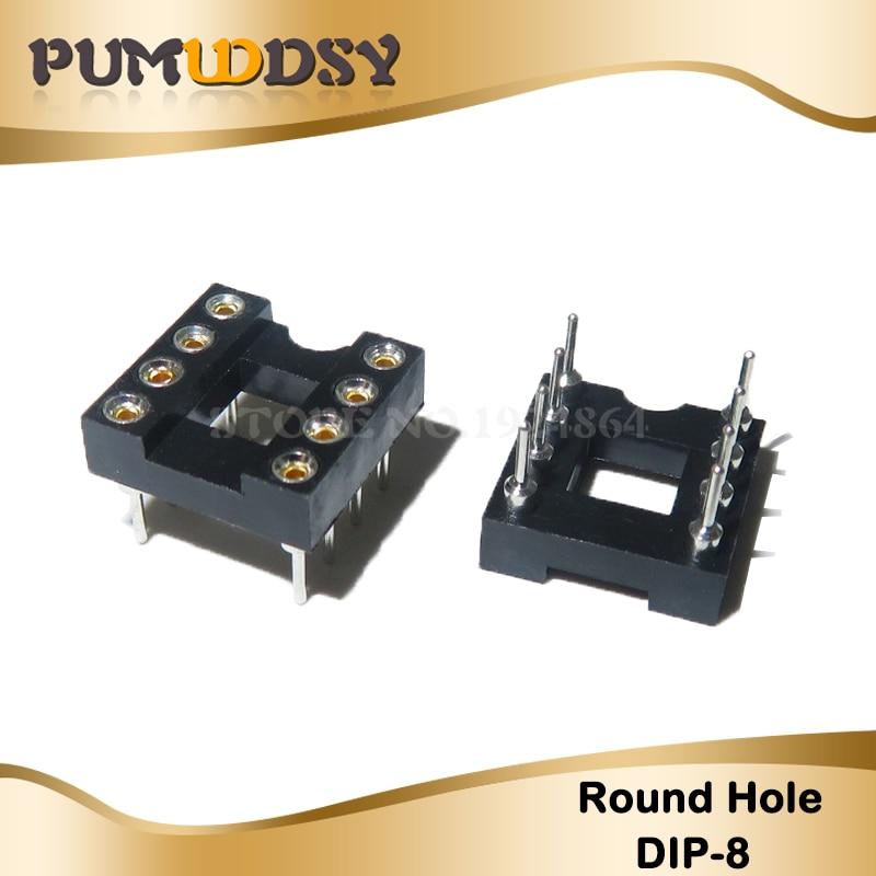 20pcs Runde Loch 8 Pins 2,54 MM DIP DIP8 IC Steckdosen Adapter Solder Typ 8 PIN IC Stecker