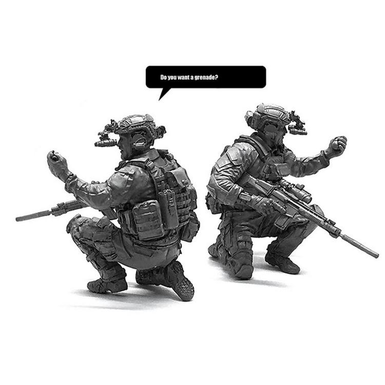 1/35 amerikanischen Seal Team Harz Soldat Modell Militärischen Hobby Kinder Spielzeug Ornamente LOO-11