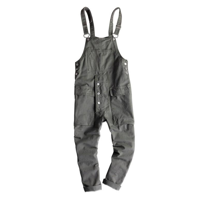 2018 New Fashion Hip-Hop trend Casual Jumpsuit pants Men/Women Loose Sling pants Japanese Retro Overalls trousers Size M-XXL