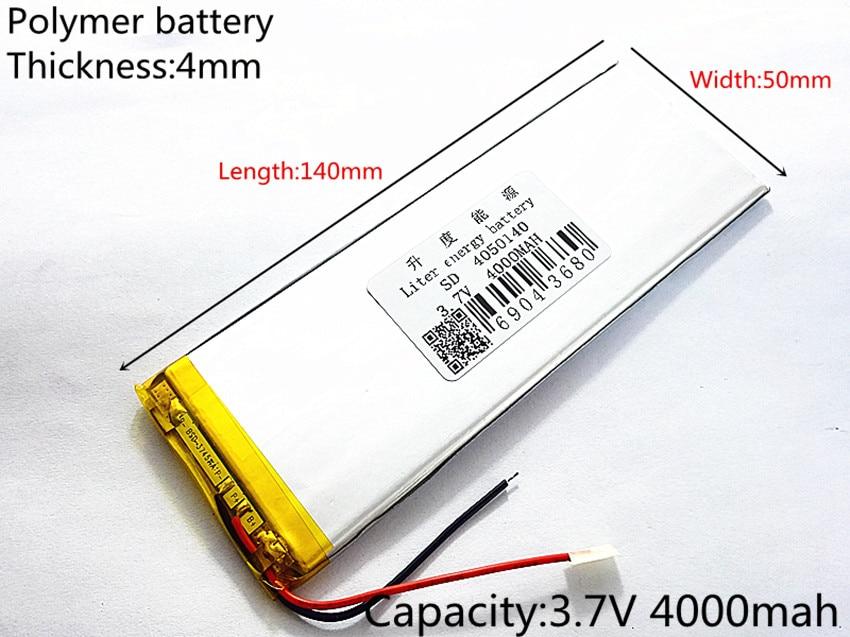 Tamaño 4050140 3,7 V Baterías de polímero de litio 4000mAh Ordenador de panel plano ultrafino de gran capacidad. Cuaderno