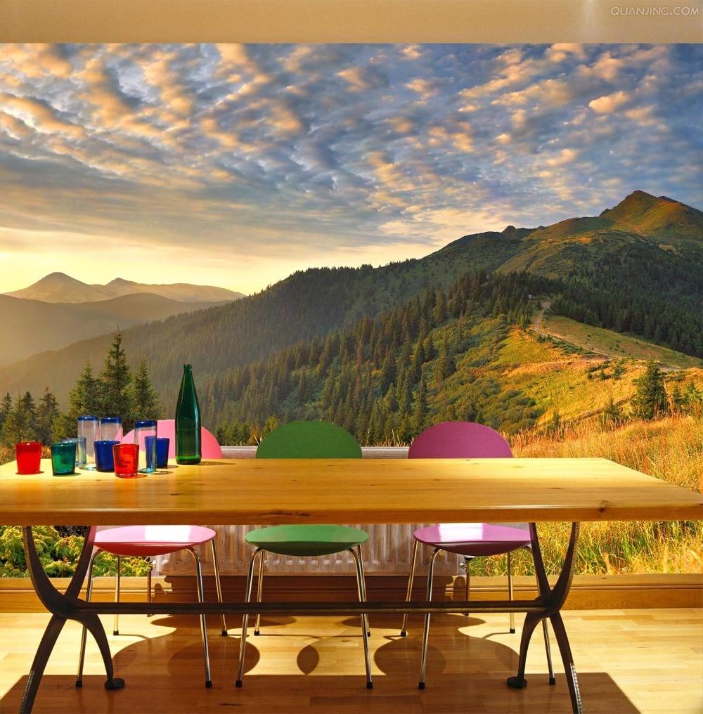 [Autoadhesivo] 3D selva Tropical montaña rango 23 pared papel mural pared pegatina pared murales