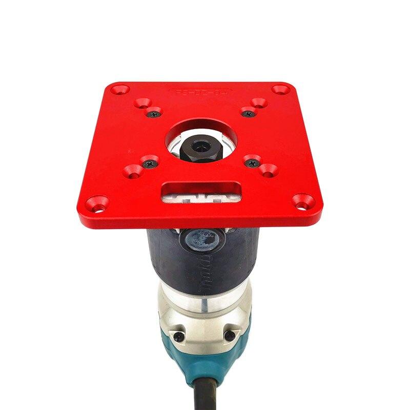 Universal RT0700C Router Mesa Placa de Inserção de Alumínio máquina de corte bordo flip para Bancos de Madeira Router Tampo da mesa