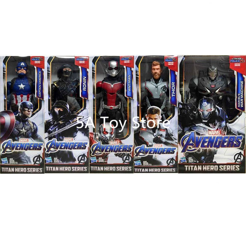 """12 """"vengadores Endgame Titan Hero Series Thor Capitán América máquina de guerra Ant Man Ronin figuras de acción de juguete muñecas para regalo de chico"""