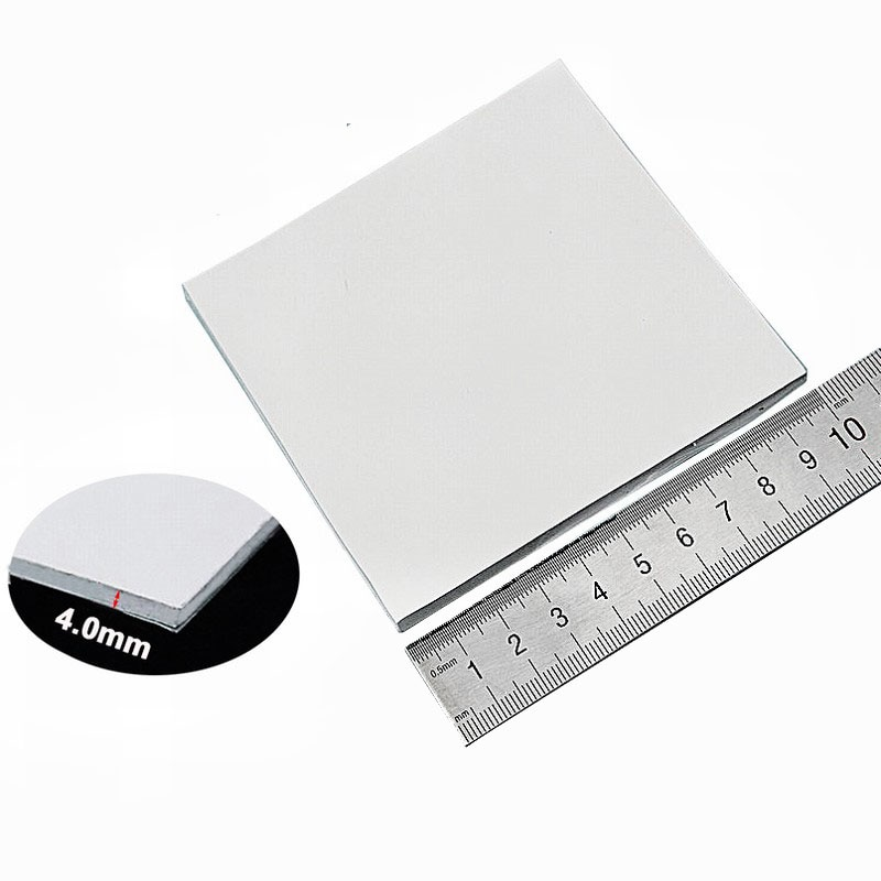 Gdstime 100x100x4MM White SMD DIP IC Chip Conductive Thermal Compounds Heatsink Silicone Pad enlarge
