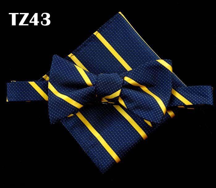 SHENNAIWEI gravata borboleta Silk Self Bow Tie Jacquard Woven Men Wedding Bow tie Pocket Square Handkerchief Suit Bowties Set недорого