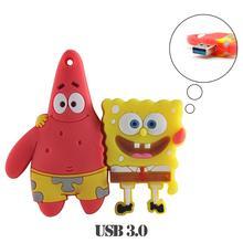 USB flash drive spongebob USB 3.0 pen drive 16G/32G/64G pen drive haute vitesse pendrive Patrick USB bâton vente chaude cadeau