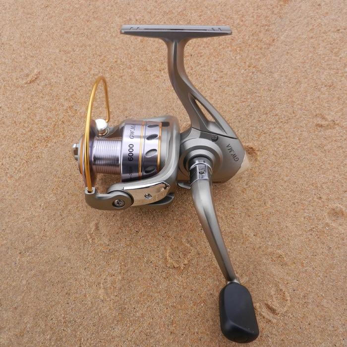 GuangWei GW MA1000 MA2000 MA3000 MA4000 MA5000 MA6000--5 + 1BB Oi Ratio Metal Spool Spinning Reel Frente Arraste Carretel De Pesca venda quente