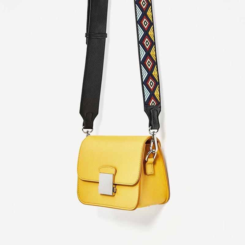 Bolsos de mensajero para mujer, bolsos de hombro de cuero PU con solapa, dos correas anchas, bolsos cruzados FA $1