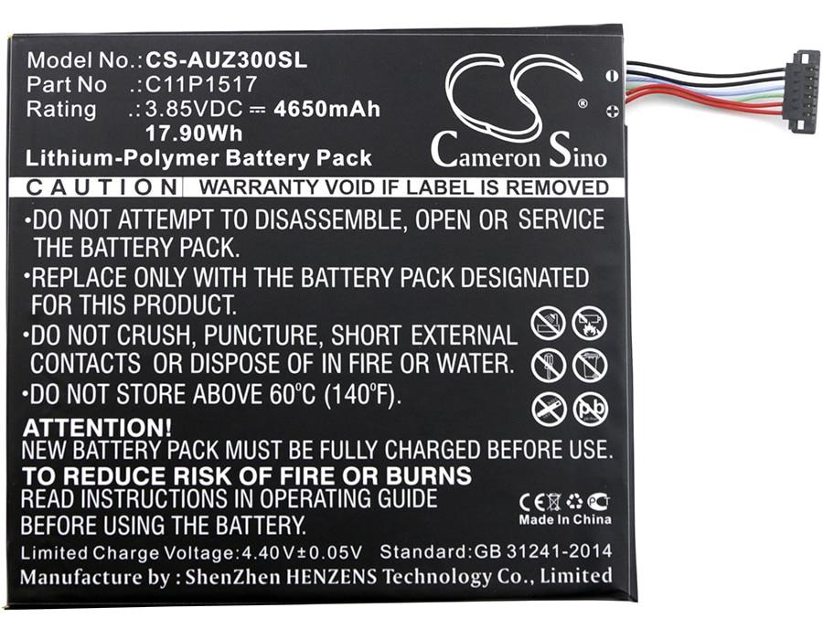 Аккумулятор Cameron Sino 4650mAh C11P1517 для Asus ZenPad 10 Z0310M, Z300M, ZenPad 10 Z300CNL, ZenPad Z300CNL